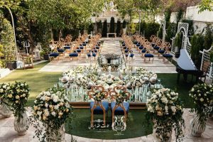 باغ عروسی کوچک برای مراسمات با ظرفیت کم   خدمات مجالس
