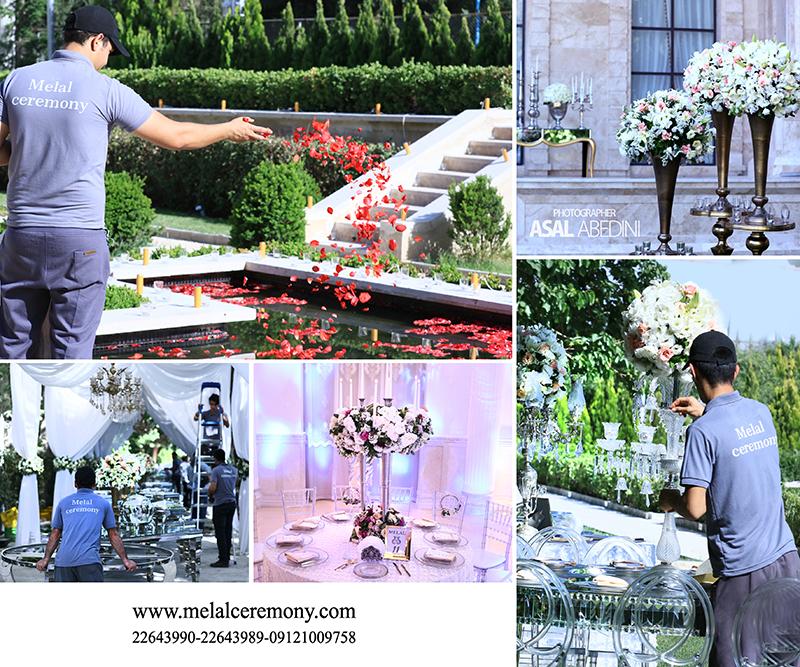 گل آرایی متجالس عروسی